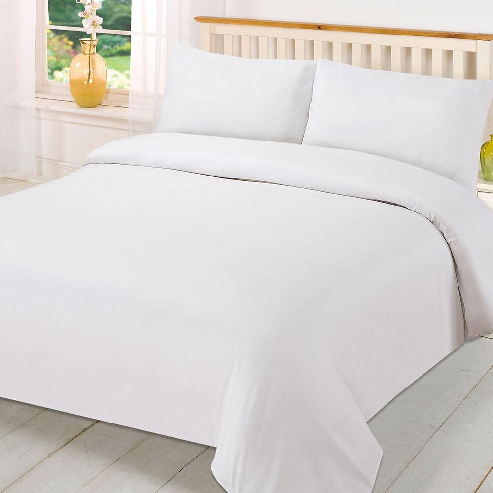 Birmi plain white Bedsheet